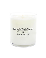 personalized engagement gift candle