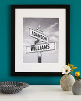 personalized engagement gift art print