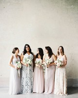 Romantic Mismatched Bridesmaid Dresses
