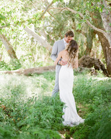 Tenley molzahn taylor leopold wedding couple greenery