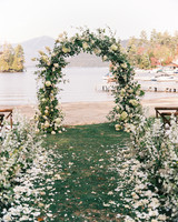 tory sean wedding lake placid new york ceremony arch