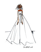 Viktor and Rolf Fall 2017 Exclusive Wedding Dress Sketch