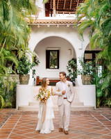 ariel trevor wedding tulum mexico couple walking