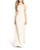 beige neutral bridesmaid dresses hayley paige lace halter