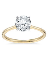 Blue Nile Petite Solitaire Engagement Ring in Yellow Gold