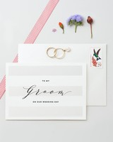 """To My Groom on Our Wedding Day"" Greeting Card"