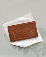 chrissy jon wedding chocolate favor