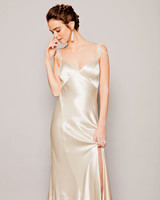 cream silk dress crystal pearl beaded straps watters