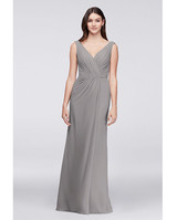 grey silver bridesmaid dresses davids bridal faux pleated