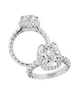 Jack Kelége Cushion- and Round-Cut Diamond Engagement Ring