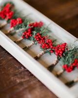 lauren christian christmas wedding boutonnieres berries