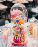 risa ross wedding brooklyn new york centerpiece