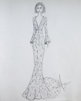Alexandra Grecco Spring 2019 Dress Sketch