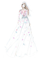 temperley bridal wedding dress sketch