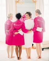stephanie nikolaus wedding bridesmaids in robes