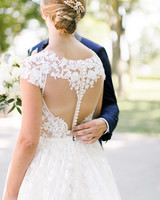 wedding dresses with buttons up back lace sleeves