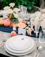 Navy and White Wedding inspiration Shoot at Wave Hill, Place Settings