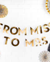bachelorette party supplies miss to mrs banner