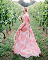 best wedding dresses 2018 francesca tim pink floral
