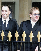 Elton John and David Furnish Wedding Photo