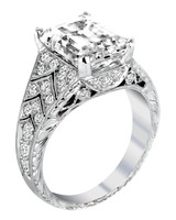 Jack Kelége vintage-inspired engagement ring