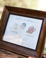 kaitlin jeremy rehearsal dinner cocktail menu sign