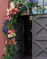 risa ross wedding brooklyn new york door flowers