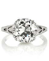 Single Stone vintage euro-cut engagement ring