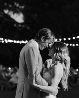 Tenley molzahn taylor leopold wedding first dance black and white