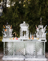 wedding ice sculpture full bar