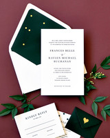 wedding stationery trends moody floral black color envelope