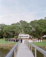 christina matt wedding charleston sc ceremony dock