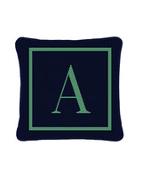 cotton anniversary gift A letter pillow