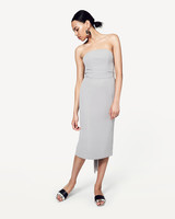 grey silver bridesmaid dresses fame and partners the brenda