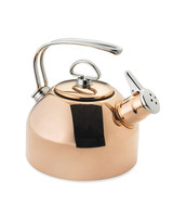 personalized engagement gift copper tea kettle
