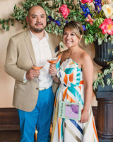risa ross wedding brooklyn new york guests with drinks