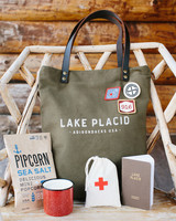 tory sean wedding lake placid new york welcome bag