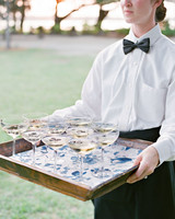 christina matt wedding charleston sc champagne tray