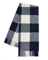 cotton anniversary gift checked throw blanket