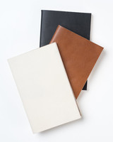 cotton anniversary gift leather journals