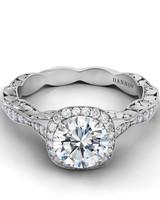 "Danhov vintage-inspired ""Petalo""engagement ring"