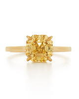 Kwiat Yellow Gold Asscher-Cut Yellow Diamond Engagement Ring