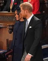Meghan Markle and Prince Harry at Princess Eugenie's 2018 royal wedding
