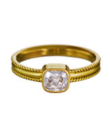 Reinstein / Ross Cushion-Cut Diamond Engagement Ring on Ribbon Band