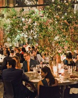 risa ross wedding brooklyn new york centerpieces guests