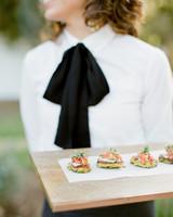 tenley molzahn taylor leopold wedding appetizers