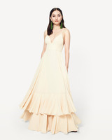 beige neutral bridesmaid dresses fame and partners the karisa
