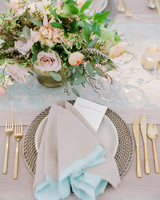 elizabeth sohale wedding dominican republic place setting