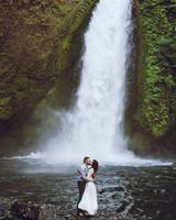 epic elopement locations wahclella falls oregon