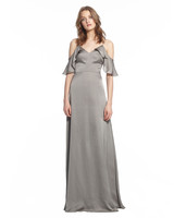 grey silver bridesmaid dresses monique lhuillier isabel dress